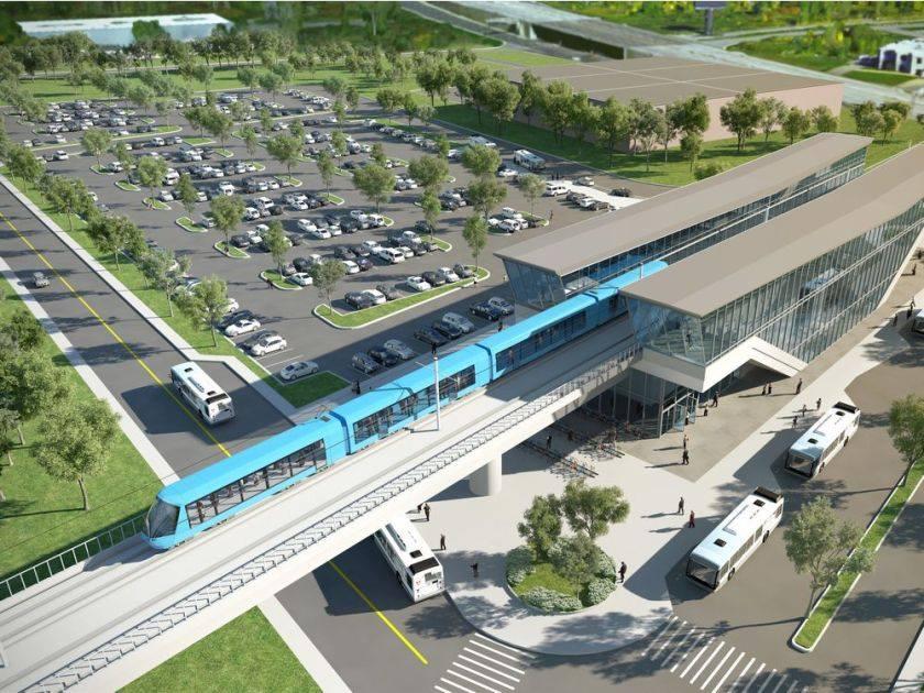 Construction ferroviaire: pose de rails pour le chantier du REM